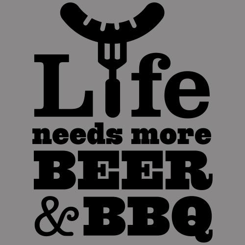 life needs more beer and bbq - Frauen Premium Tank Top