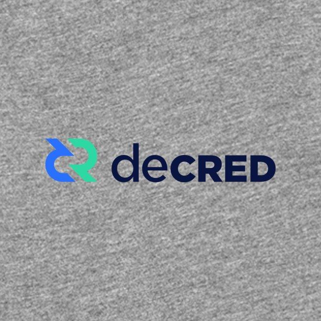 Decred logo horizontal color dark
