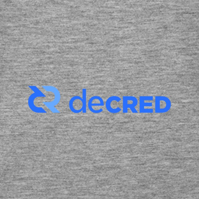 Decred logo horizontal blue