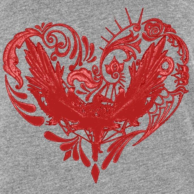 Hjertefuglrød png