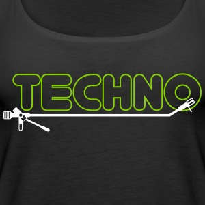 techno turntsble - Dame Premium tanktop