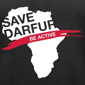 Save Darfur. Be Active! - Women's Premium Tank Top
