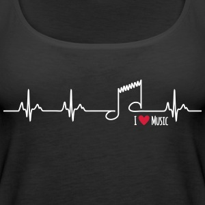 I love music - Women's Premium Tank Top