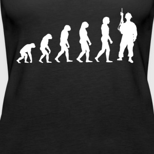 Evolution Soldat - Soldaten T-Shirt! - Frauen Premium Tank Top