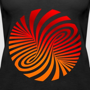 psychedelic circles lsd optical illusion column - Women's Premium Tank Top