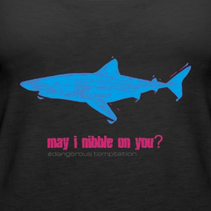 "Hungry shark ""may i nibble on you?"" - Women's Premium Tank Top"