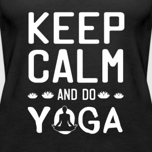 Keep Calm And gøre yoga - Dame Premium tanktop
