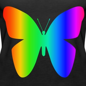 Rainbow Butterfly - Dame Premium tanktop