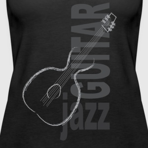 Jazz Guitar - Vrouwen Premium tank top