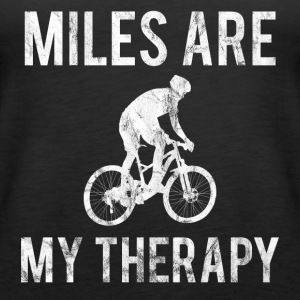 MILES ARE MY THERAPY WHITE - Frauen Premium Tank Top
