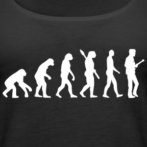 Evolution Guitar Guitarist w - Women's Premium Tank Top