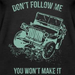 Follow Me Jeep Car - Vrouwen Premium tank top