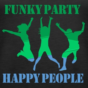 Funky Party Happy People - Premiumtanktopp dam