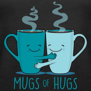 Mugs and hugs - coffee - Women's Premium Tank Top