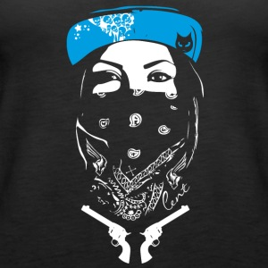 bad swag rap gang revolver street art spray tatoo - Frauen Premium Tank Top