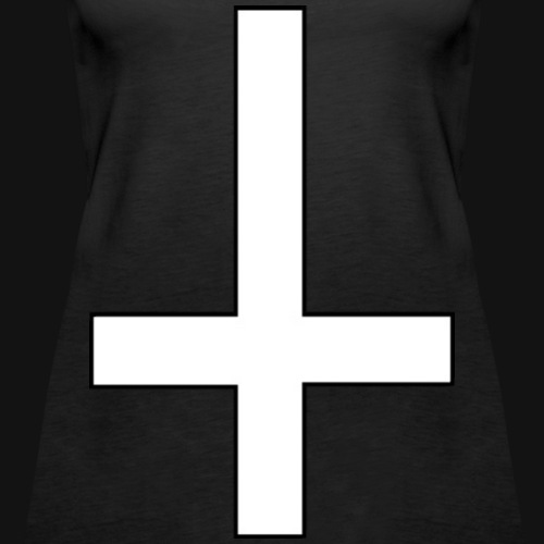 Luxury Inverted Cross white - Frauen Premium Tank Top