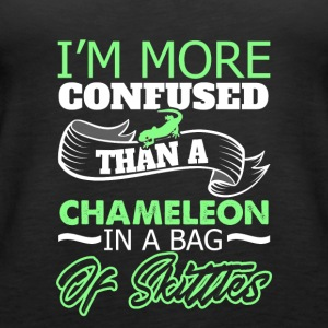 I'm more Confused than a chameleon in a bag - Women's Premium Tank Top