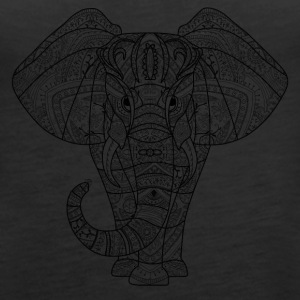 Elephant in black - Women's Premium Tank Top