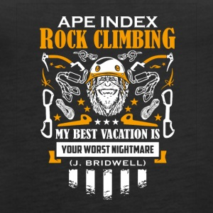 ApeIndex Rock Climbing Orange - Premiumtanktopp dam