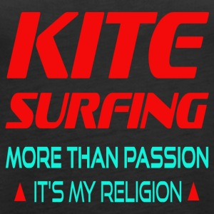 KITESURFING - MORE THAN PASSION ITS MY RELIGION - Women's Premium Tank Top