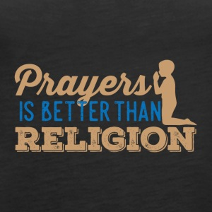 Prayers over Religion - Women's Premium Tank Top