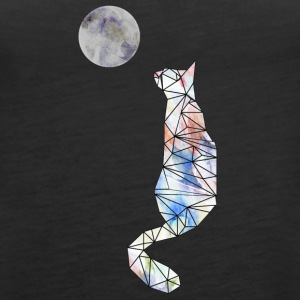 Cat and moon - Premiumtanktopp dam