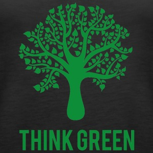 Earth Earth Day / Day: Think Green - Premiumtanktopp dam