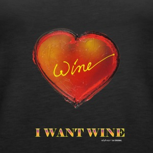 SERCE I WANT WINE - Tank top damski Premium