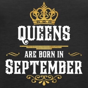 Queens Born september - Vrouwen Premium tank top