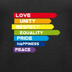 gay Love Unity Respekt Pride Peace happiness csd l - Frauen Premium Tank Top