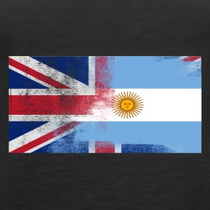British Argentinean Half Argentina Half UK Flag - Women's Premium Tank Top