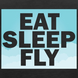 Piloto: Eat, Sleep, Fly, Repetir - Camiseta de tirantes premium mujer