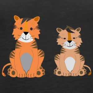 Two cute tigers - Women's Premium Tank Top