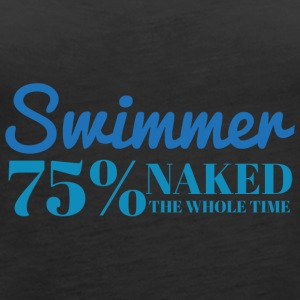 Svømming / float: Swimmer - 75% naken - Premium singlet for kvinner