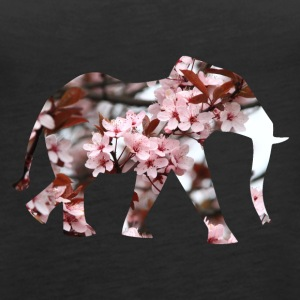 Elephant flower silhouette - Women's Premium Tank Top