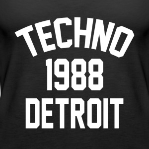 Techno 1988 Detroit - Women's Premium Tank Top