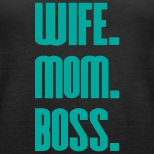 Wife Mom Boss mothers day - mother - Women's Premium Tank Top