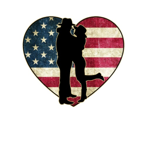 Linedance Love US Flag Vintage Design