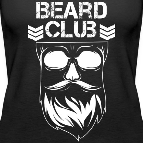 Beard Club weiß - Frauen Premium Tank Top