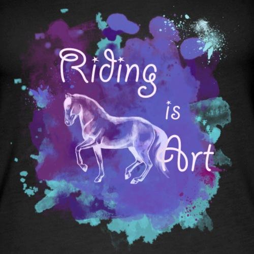 RidingArt Purple Splash - Frauen Premium Tank Top