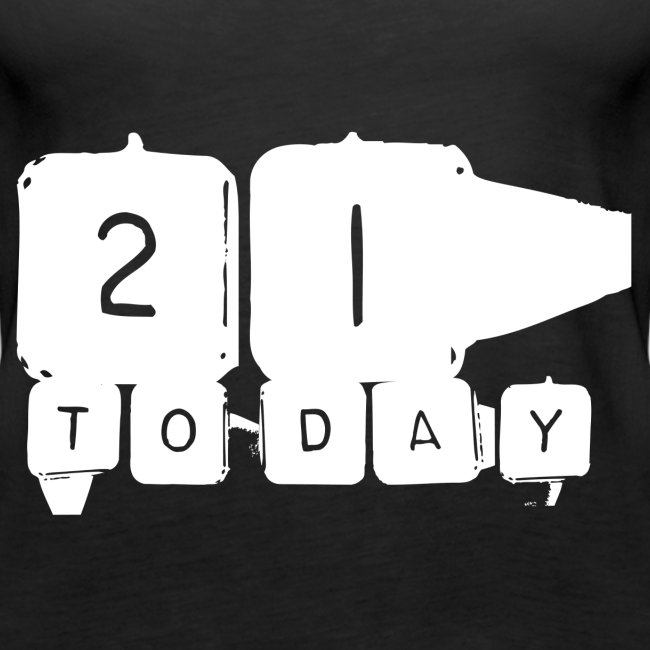 21 Today T-shirt design white