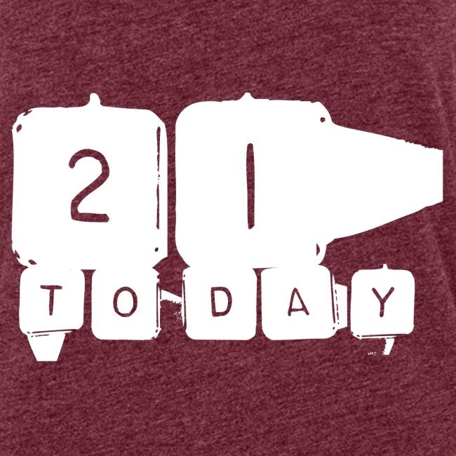 21 Today T-shirt design white