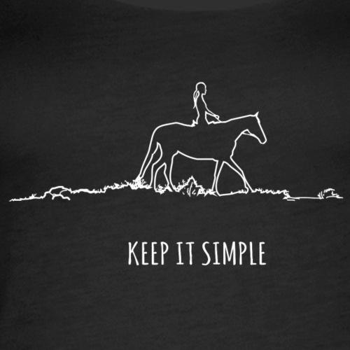 Keep it simple - Frauen Premium Tank Top