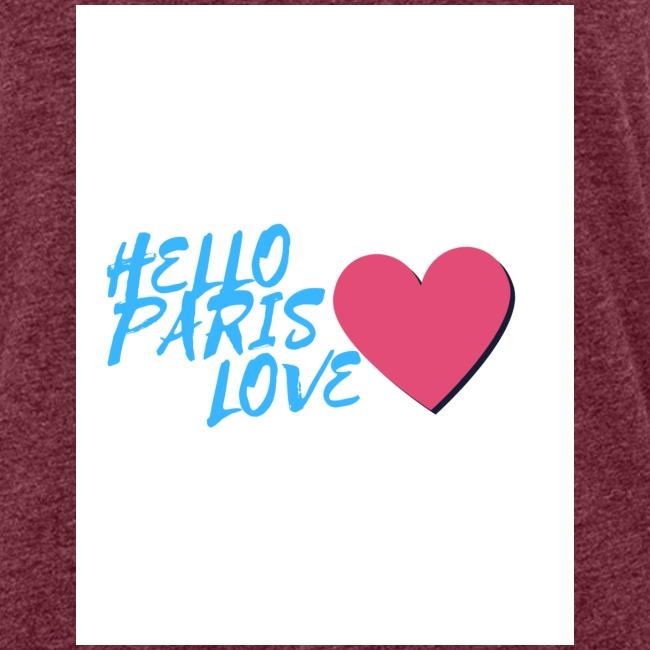 hello paris love bleu
