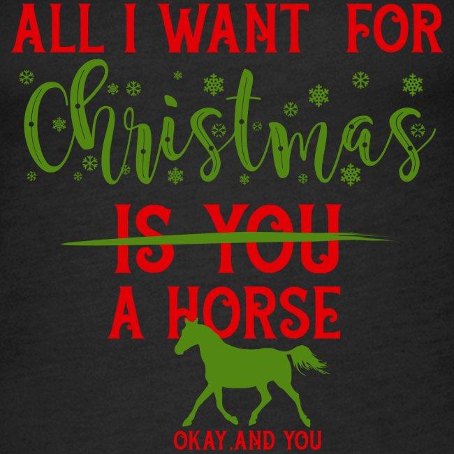 Weihnachts Wunschzettel - Pferd