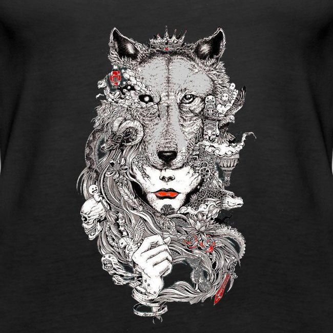 gray wolf Ladys INDP gold