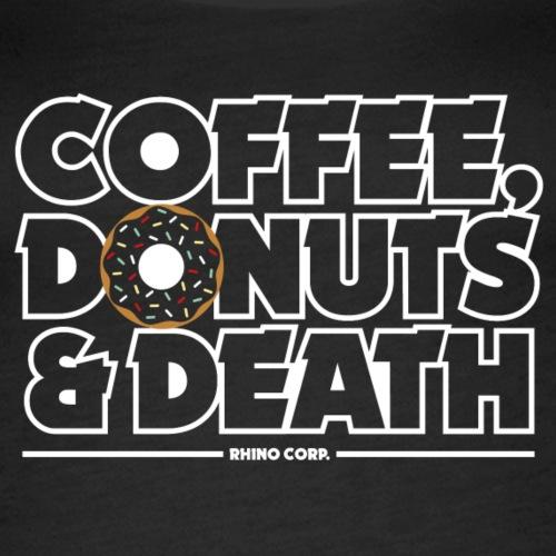 Coffee, donuts & death - Premiumtanktopp dam