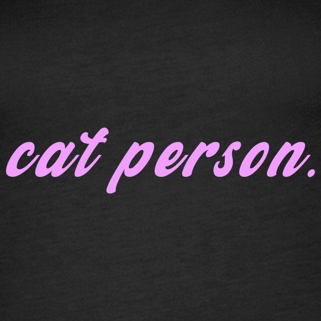 Cat Person cat t-shirt
