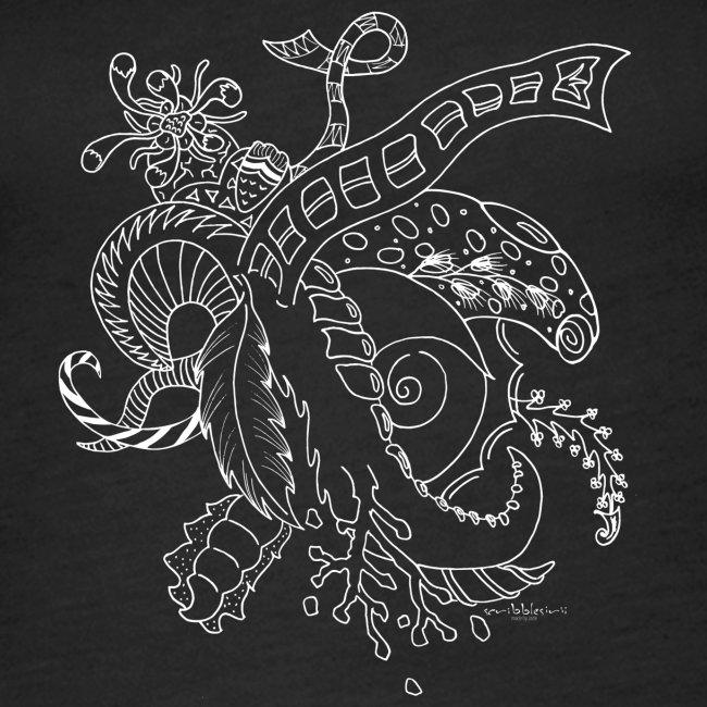 Fantasia valkoinen scribblesirii