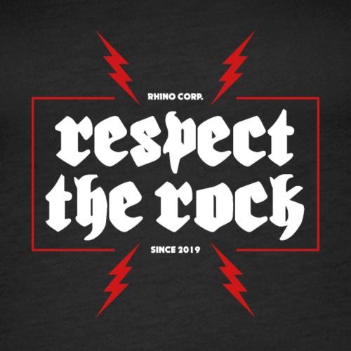 Respect The Rock - Premiumtanktopp dam